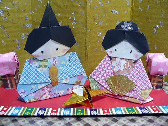 自宅で作れる!?ひな祭りを彩る ... : お雛様 手作り 折り紙 : 折り紙