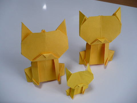 折り 折り紙 折り紙 ねこ : yukinokaze.blog.so-net.ne.jp