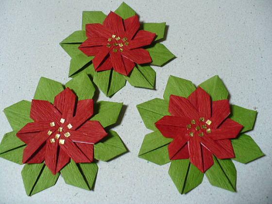 簡単 折り紙:クリスマスの飾り 折り紙-divulgando.net