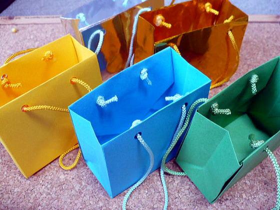 バラ 折り紙:折り紙 バッグ-yukinokaze.blog.so-net.ne.jp