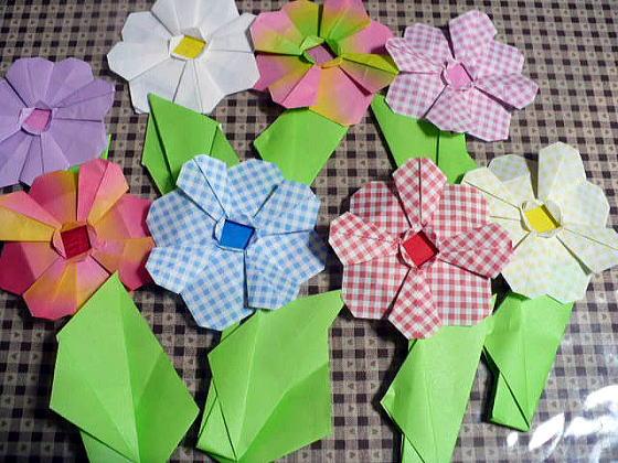 折り紙の:折り紙の花束-divulgando.net
